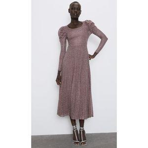 Zara Dress with Metallic Thread